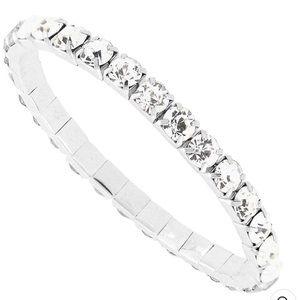 Swarovski Crystal 3mm stretch bracelet